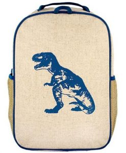 Grade School Backpack Blue dino_front copy